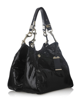 dd08411dbb Jimmy Choo Lohla Paillette-Detail  Not Your Ordinary Black Bag