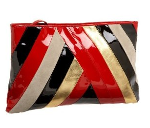 Red White Black Gold Clutch | Bag Bible