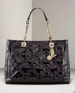 Versace-patent-chain-shoulder-bag