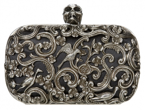 McQueen-Black-Ornate-Skull-Clutch